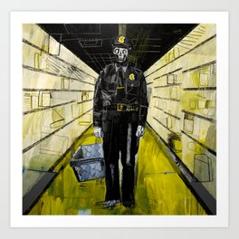 Policeman zombie in the looted supermarket. 2011. Art Print