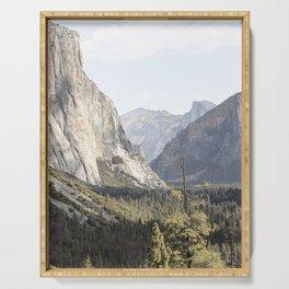 El Capitan Yosemite National Park Photo | California USA View Art Print | Nature Travel Photography Serving Tray