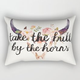 Take The Bull By The Horns Rectangular Pillow