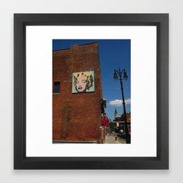 Marilyn Monroe In Detroit Framed Art Print