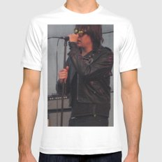 Julian and Nick - The Strokes MEDIUM White Mens Fitted Tee