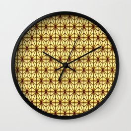 Geometric Abstract Pattern (Gold/Brown) Wall Clock