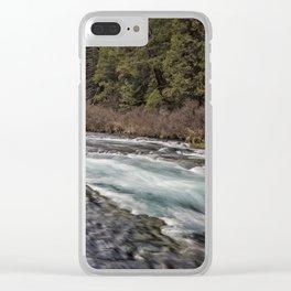 Metolius River near Wizard Falls Clear iPhone Case