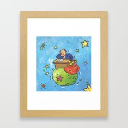 The Businessman From Little Prince Framed Art Print