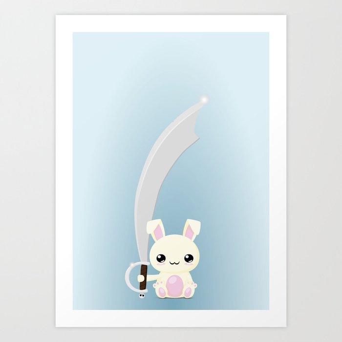 Kawaii Bunny Art Print