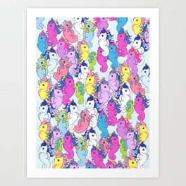 g1 my little pony sea pony collage Art Print
