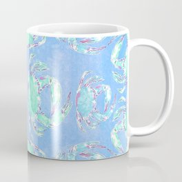 Watercolor blue crab Coffee Mug