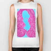 candy Biker Tanks featuring Candy by Lior Blum