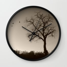 Melancholy in December Wall Clock