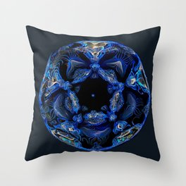 Electric Blue Planet Throw Pillow