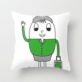 Egg Stewardess Throw Pillow