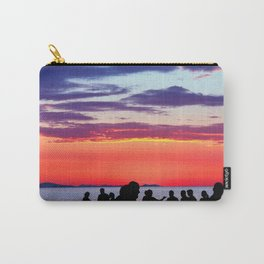 Silhouettes in the sunset Carry-All Pouch