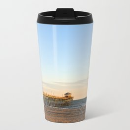 Golden Hour at the Fishing Pier Travel Mug
