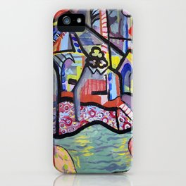 The Church at Auvers a la Mela iPhone Case