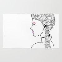 marie antoinette Area & Throw Rugs featuring Marie Antoinette by Nicholas Darby