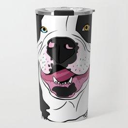 Bubba, the American Bulldog Travel Mug