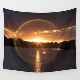 Sunset in the Mar Chiquita lagoon. Wall Tapestry