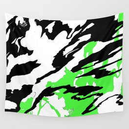 Green and Black Wall Tapestry