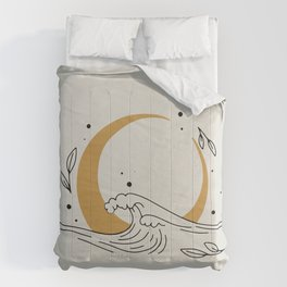 Cresent Moon and the wave Comforters