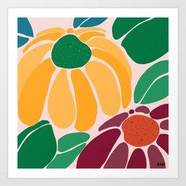 Let's Bloom Art Print