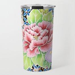Kimono Bouquet Brocade Travel Mug