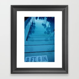 Poolside, Miami.  Framed Art Print