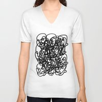 tangled V-neck T-shirts featuring tangled by Dan Garzi