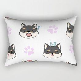 Chibi Shiba's black & tan Rectangular Pillow