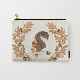 Pumpkin Spice Squirrel Carry-All Pouch