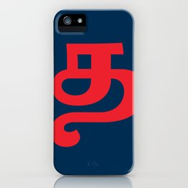 A bold Ta letter iPhone Case