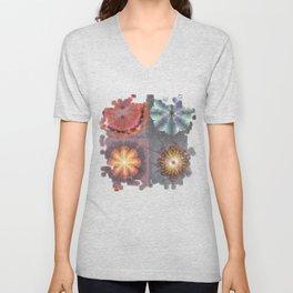 Absenters Intermixture Flower  ID:16165-065456-80170 Unisex V-Neck