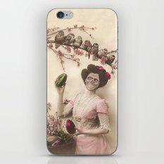 Mademoiselle skull iPhone & iPod Skin