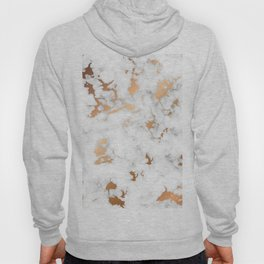 Marble Texture with Gold Splatter 040 Hoody