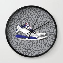 Jordan 3 True Blue Wall Clock