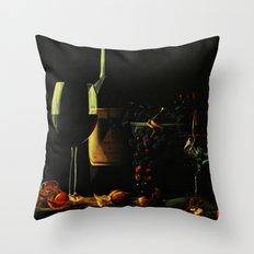 Still Life With Wine Throw Pillow