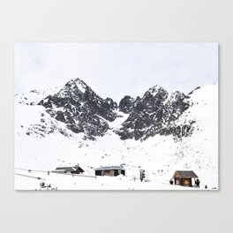 houses & hills. Canvas Print