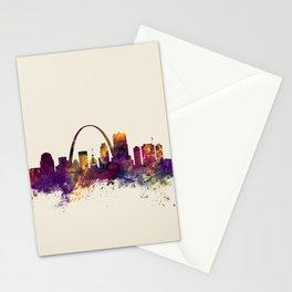 St Louis Missouri Skyline Stationery Cards