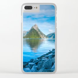 Serene Morning at Milford Sound Clear iPhone Case