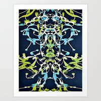 art nouveau Art Prints featuring Nouveau by Tina Carroll