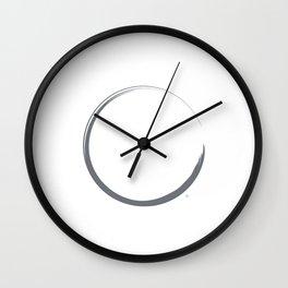 """ Color Trends ""- Abstract Minimal Blue Circle Print Wall Clock"