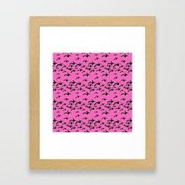 Killer Whales Orca Pod on Hot Pink Pattern Framed Art Print