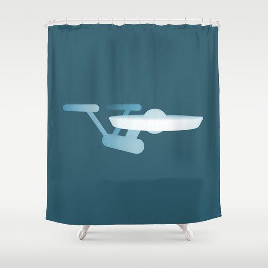 Star Trek USS Enterprise Shower Curtain By Metin Seven