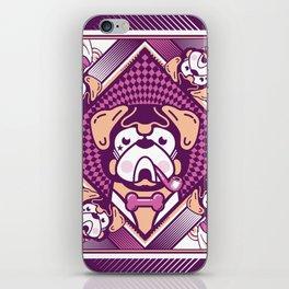 pug violette iPhone Skin