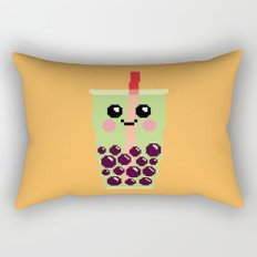 Happy Pixel Bubble Tea Rectangular Pillow