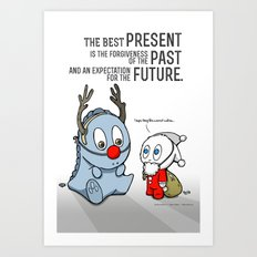 Present, Past, Future... Art Print