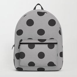 XX Large Dark Grey on Light Grey Polka Dots Backpack