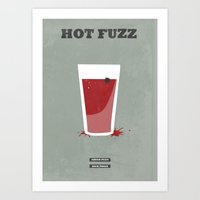 hot fuzz Art Prints featuring Hot Fuzz - minimal poster by Mads Hindhede Svanegaard