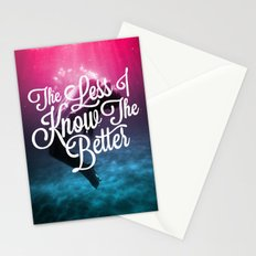 The Less I Know Stationery Cards
