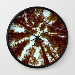 Forest Sky Vintage Trees Wall Clock