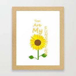 You Light Up My Day Framed Art Print